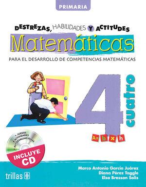 DESTREZAS, HABILIDADES Y ACTITUDES MATEMATICAS 4 INCLUYE CD