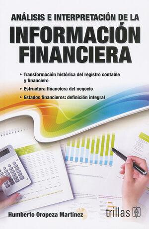 ANALISIS E INTERPRETACION DE LA INFORMACION FINANCIERA