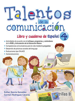 TALENTOS DE LA COMUNICACION. LIBRO Y CUADERNO DE ESPAÑOL 4