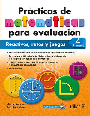 PRACTICAS DE MATEMATICAS PARA EVALUACION 4, PRIMARIA