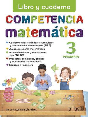 COMPETENCIA MATEMATICA 3. LIBRO Y CUADERNO