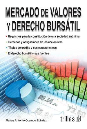 MERCADO DE VALORES Y DERECHO BURSATIL