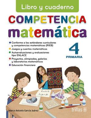 COMPETENCIA MATEMATICA 4. LIBRO Y CUADERNO