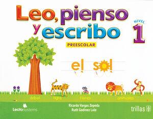 LEO, PIENSO Y ESCRIBO. PREESCOLAR 1