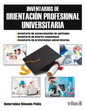 INVENTARIOS DE ORIENTACION PROFESIONAL UNIVERSITARIA. LIBRO