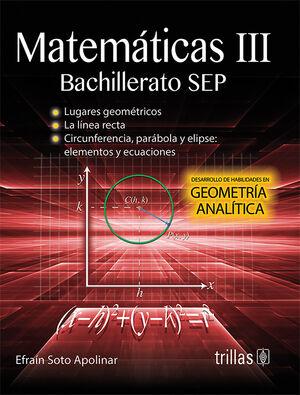 MATEMATICAS 3. BACHILLERATO SEP