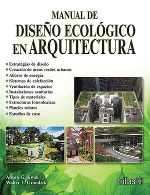 MANUAL DE DISEÑO ECOLOGICO EN ARQUITECTURA