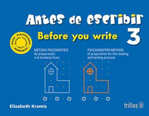 ANTES DE ESCRIBIR 3 = BEFORE YOU WRITE 3