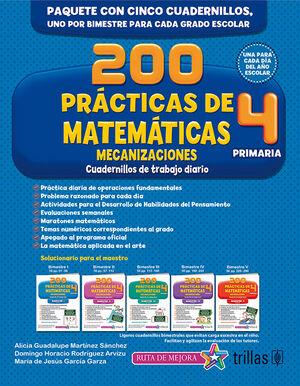 200 PRACTICAS DE MATEMATICAS 4, PRIMARIA. MECANIZACIONES