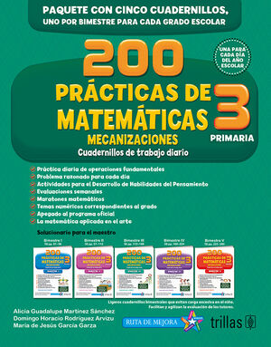 200 PRACTICAS DE MATEMATICAS 3, PRIMARIA. MECANIZACIONES