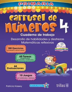 CARRUSEL DE NUMEROS 4. CUADERNO DE TRABAJO. INCLUYE CD