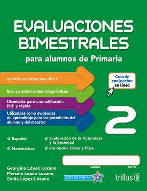EVALUACIONES BIMESTRALES PARA ALUMNOS DE PRIMARIA 2