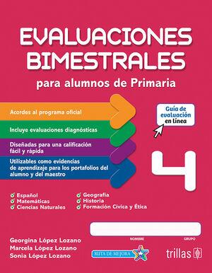 EVALUACIONES BIMESTRALES PARA ALUMNOS DE PRIMARIA 4