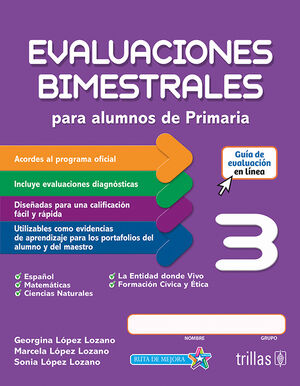 EVALUACIONES BIMESTRALES PARA ALUMNOS DE PRIMARIA 3