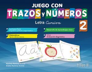 JUEGO CON TRAZOS Y NUMEROS 2. LETRA CURSIVA