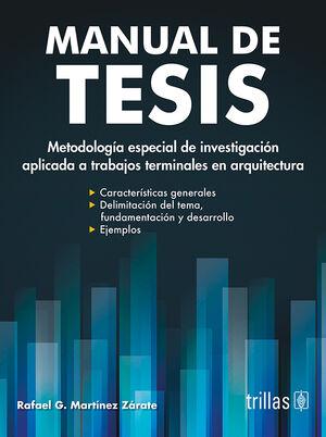 MANUAL DE TESIS (ARQUITECTURA)