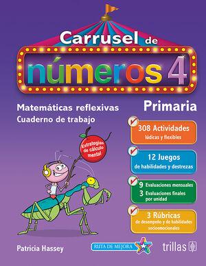 CARRUSEL DE NUMEROS 4. CUADERNO DE TRABAJO