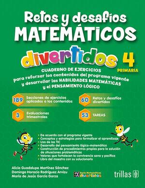 RETOS Y DESAFIOS MATEMATICOS DIVERTIDOS 4.PRIMARIA. CUADERNO DE EJERCICIOS