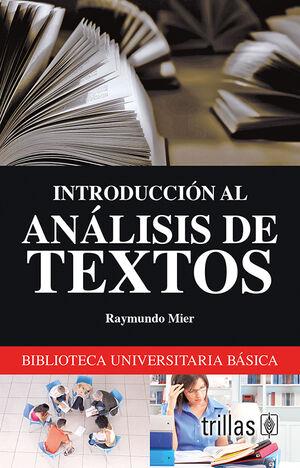 INTRODUCCION AL ANALISIS DE TEXTOS
