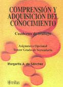 COMPRENSION Y ADQUISICION DEL CONOCIMIENTO. CUADERNO DE TRABAJO 3SEC