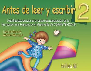 ANTES DE LEER Y ESCRIBIR 2