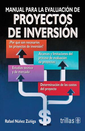 MANUAL PARA LA EVALUACION DE PROYECTOS DE INVERSION